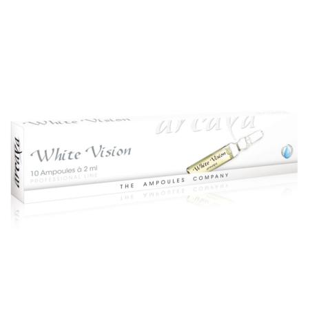 White Vision 10er Ampullenpackung in der Farbe weiß.