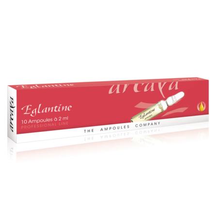 Eglantine 10er Ampullenpackung in der Farbe kaminrot und weiß.