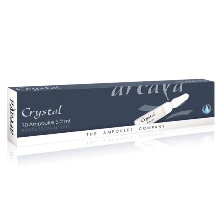 Crystal 10er Ampullenpackung in der Farbe anthrazit und weiß.