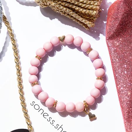Armkettchen in soft Pink