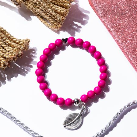 Armkettchen in pink mit Anhänger