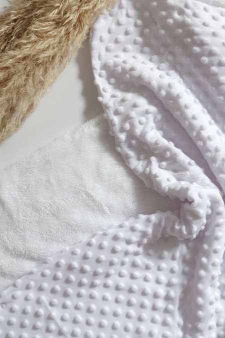 Babydecke weiß 100x75cm
