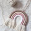 Makramee-Wandbehang Regenbogen rosa