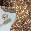 Musselin-Pucktuch braun 120x120cm
