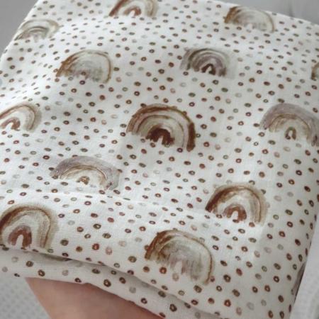 Musselinspucktuch Regenbögen 60x60 cm
