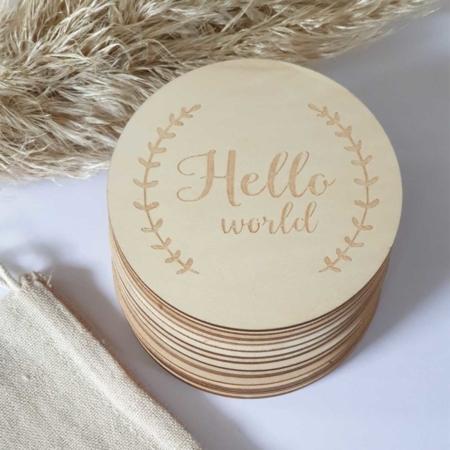 Meilensteinkarten Holz