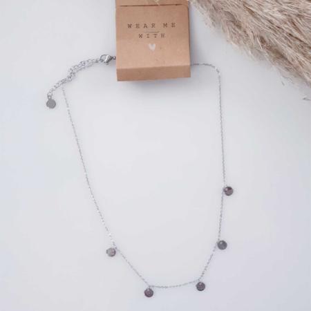 Halskette Silber Münzen